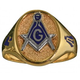 3rd Degree Masonic Ring 10KT OR 14KT,  Solid Back, White or Yellow Gold #617