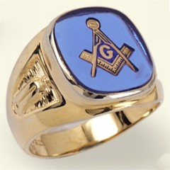3rd Degree Masonic Blue Lodge Ring 10Kt or 14KT, Open Back  #208