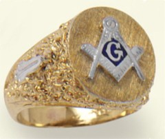 3rd Degree Blue Lodge Masonic Ring 10KT OR 14KT Hollow Back #8