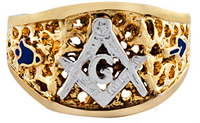 3rd Degree Blue Lodge Masonic Ring 10KT OR 14KT, Solid Back  #46
