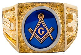 3rd Degree Masonic Blue Lodge Ring 10KT OR 14KT, Partial Closed Back  #211
