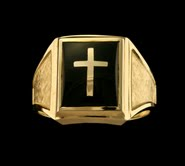 Clergy Rings 10KT or 14KT Yellow or White Gold  Open or Solid Back  #4