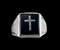 Clergy Rings Sterling Silver Solid Back #32