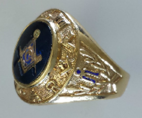3rd Degree Blue Lodge Masonic Ring 10KT or 14KT YELLOW OR WHITE Gold, Open or Solid Back   #409