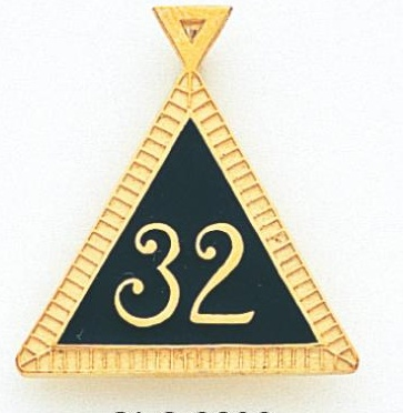 32nd Degree Scottish Rite Pendant 10KT or 14KT Yellow Gold #17
