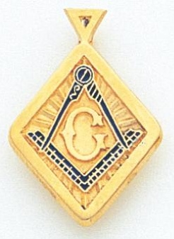 Blue Lodge Pendant 10KT or 14KT Yellow Gold #10