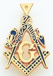Blue Lodge Pendant 10KT or 14KT Yellow Gold #7