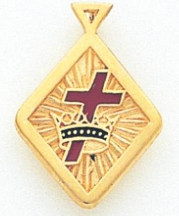 Knights Templar Pendant 10KT or 14KT Yellow Gold #27