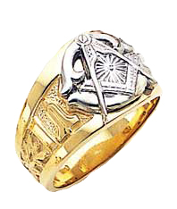 #121a Blue Lodge  Masonic Ring 10K or 14K Solid Back