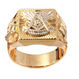 Masonic Past Master Rings, 10KT or 14KT YELLOW OR WHITE GOLD, Open or  Solid Back #1013