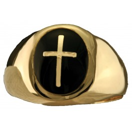 Clergy Rings 10KT or 14KT Yellow or White Gold  Solid Back  #3