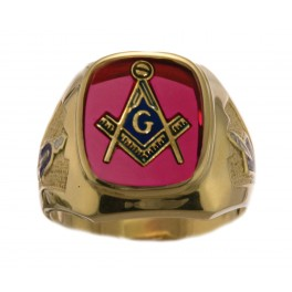 3rd Degree Blue Lodge Masonic Ring 10KT or 14KT YELLOW OR WHITE Gold, Open or Solid Back  #419