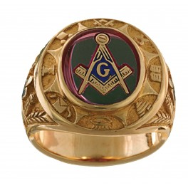 3rd Degree Blue Lodge Masonic Ring 10KT OR 14KT Yellow or White Gold.  Open or Solid Back #513