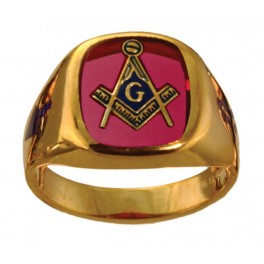 3rd Degree Blue Lodge Masonic Ring 10KT OR 14KT Yellow or White Gold,  Open or Solid Back #504