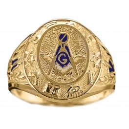 3rd Degree Blue Lodge Masonic Ring 10KT or 14KT YELLOW OR WHITE Gold, Open or Solid Back    #431