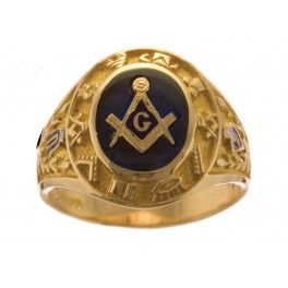 3rd Degree Blue Lodge Masonic Ring 10KT, 14KT, Open or Solid Back #506