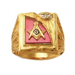 3rd Degree Blue Lodge Masonic Ring 10KT OR 14KT Yellow or White Gold, Open or Solid Back #508