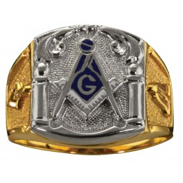 3rd Degree Masonic Ring 10KT OR 14KT, Open or Solid Back, White or Yellow Gold #605