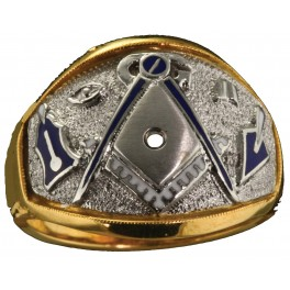 3rd Degree Masonic Ring 10KT OR 14KT, Open or Solid Back, White or Yellow Gold #609
