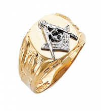 Blue Lodge Masonic Ring 10K or 14K Open or Solid Back #131a