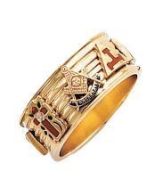 Shrine Band Style Ring 10K or 14K Gold  #50