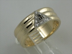 33RD DEGREE MASONIC RING,MEDIUM WEIGHT, OR HEAVY WEIGHT .09CT TOTAL DIAMOND WEIGHT  #1607