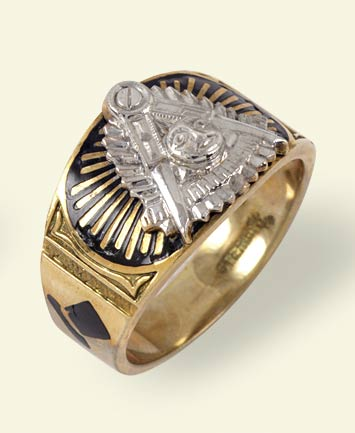 Masonic Past Master Rings, 10KT or 14KT GOLD, Hollow Back  #1006
