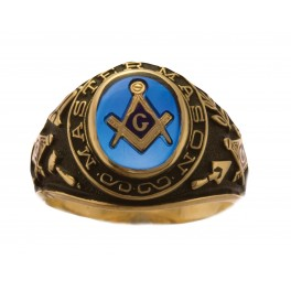 3rd Degree Masonic Blue Lodge Ring 10KT or 14KT, Open or Solid Back  #248