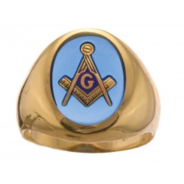 3rd Degree Masonic Ring 10KT OR 14KT  Open or Solid Back, White or Yellow Gold, #703