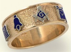 3rd Degree Blue Lodge Masonic Ring 10KT OR 14KT,  #38