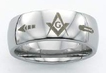 Stainless Steel Masonic Band #1