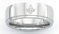 Stainless Steel Masonic Band #2
