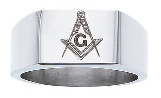 Stainless Steel Masonic Band #9