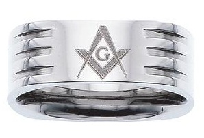 Stainless Steel Masonic Band #10