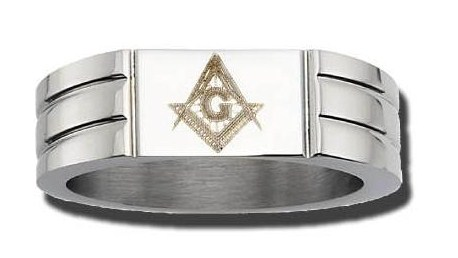 Stainless Steel Masonic Band #12