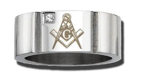 Stainless Steel Masonic Band #14