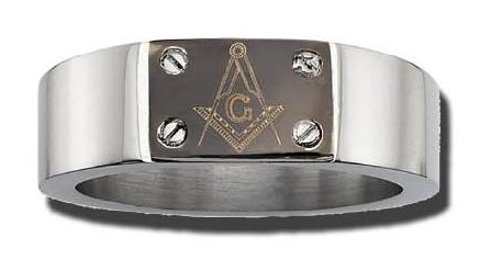 Stainless Steel Masonic Band #15