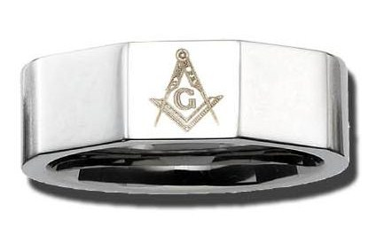 Stainless Steel Masonic Band #17