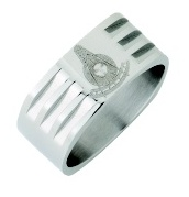 Stainless Steel Past Master Ring #21