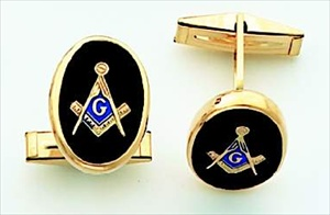 Masonic Cuff Links 14KT Yellow Gold #7