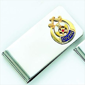 Divan Masonic Money Clip #12