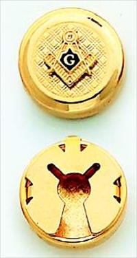 Blue Lodge, Past Master Button, 33rd Degree Button Covers #16