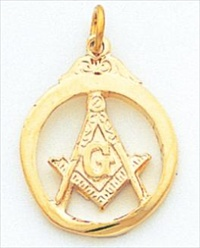 Blue Lodge Pendant 10KT Yellow Gold #6