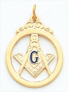 Blue Lodge Pendant 10 KT Yellow Gold #9