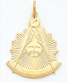 Past Master Masonic Pendant 10KT or 14KT Yellow Gold #13