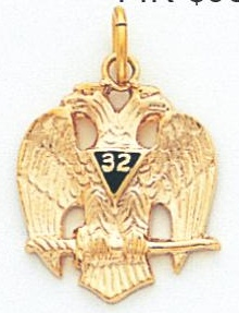 Scottish Rite Pendant 10KT Yellow Gold #14