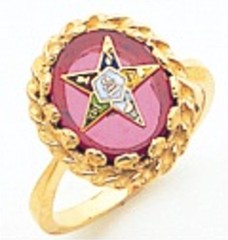 Eastern Star Ring 10KT or 14KT  Yellow or White Gold #7
