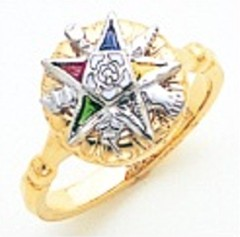 Eastern Star 10KT or 14KT Yellow or White Gold #29
