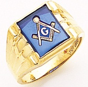 3rd Degree Masonic Blue Lodge Ring 10KT OR 14KT Open or Solid Back, White or Yellow Gold, #184b