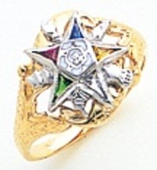 Eastern Star 10Kt or 14KT Yellow or White Gold #26